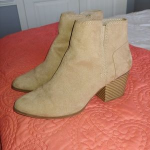 Kohl's tan/beige ankle boots
